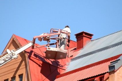 Roof painting in Haddon Heights, New Jersey by Pete Jennings & Sons