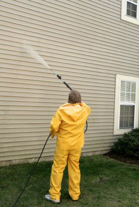 Pressure washing in Haddonfield, NJ by Pete Jennings & Sons.