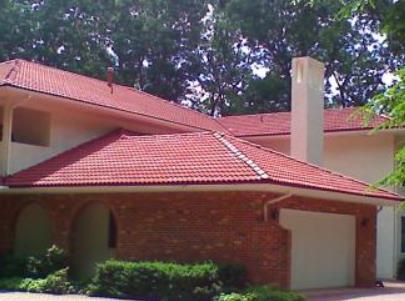 Staining Tile Roof and Painting Stucco
