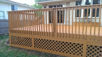 After Deck Staining