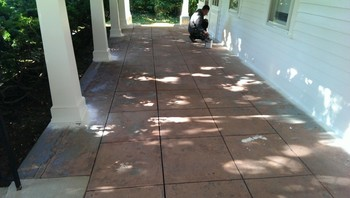 Before Exterior Patio Painting